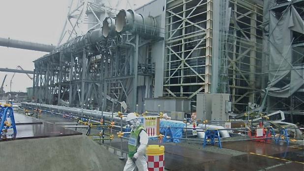 Trabajos de rehabilitación en la planta de TEPCO en 2015