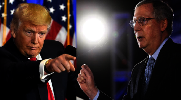 Donald Trump culpa al senador Mitch McConell del fracaso de la reforma sanitaria