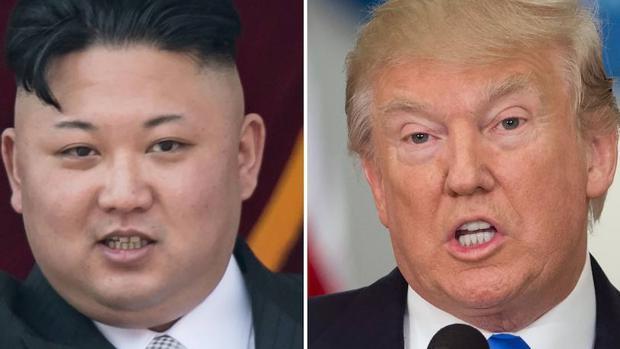 El dictador norcoreano, Kim Jong-un y el presidente de EE.UU., Donald Trump