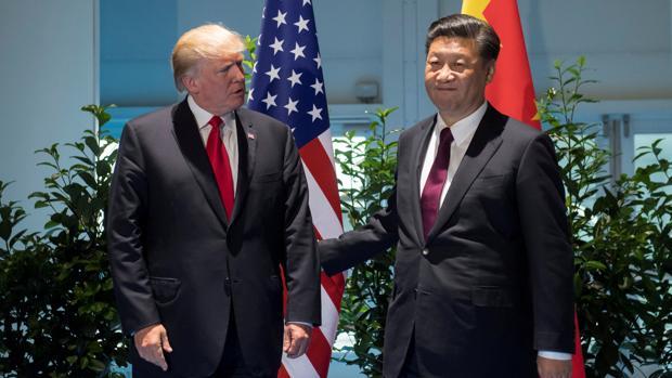 El presidente chino Xi Jinping y su homólogo estadounidense, Donald Trump durante las reuniones del G-20