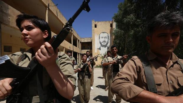 Milicia kurda en Koya, cerca de Erbil