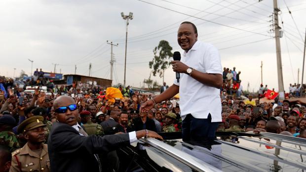 El, hasta ahora presidente de Kenia, Uhuru Kenyatta