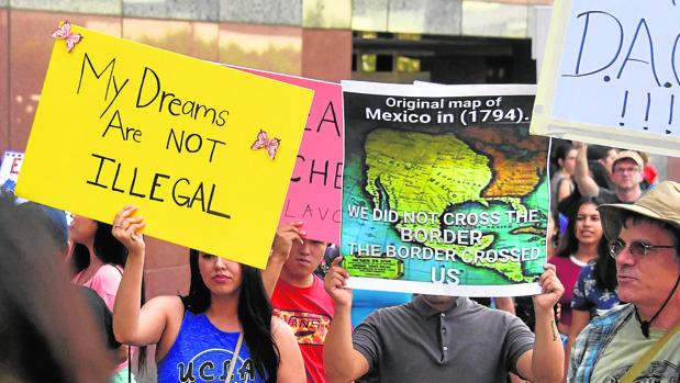 Manifestación de jóvenes «Dreamers»