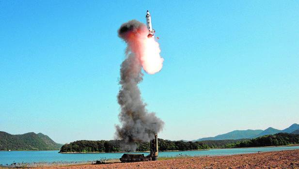 Ensayos en Corea del Norte de un misil balístico intercontinental el pasado mes de mayo