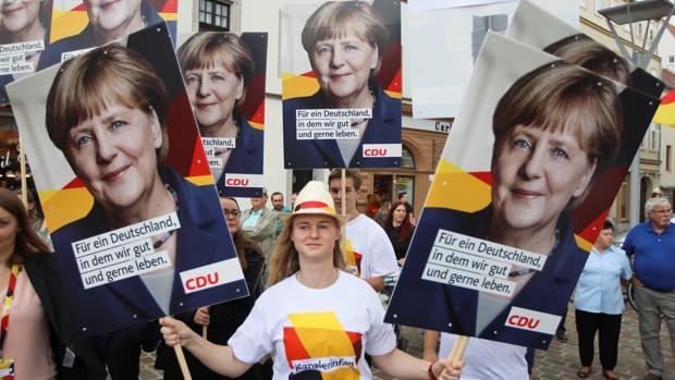 Mitin de Angela Merkel en Torgau