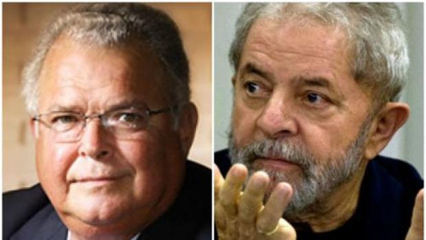 Emilio Odebrecht (izquierda) y Lula da Silva