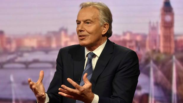 El ex priimer ministro británico, Tony Blair, durante una entrevista con la BBC