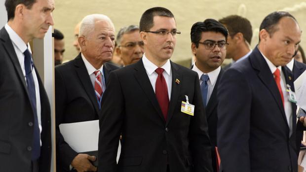 Jorge Arreaza durante la reunión del consejo de Derechos Humanos de la ONU