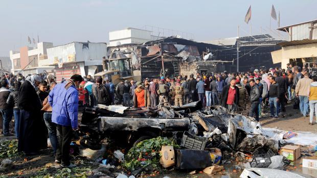 Imagen de un atentado de Daesh en Bagdad el pasado mes de enero