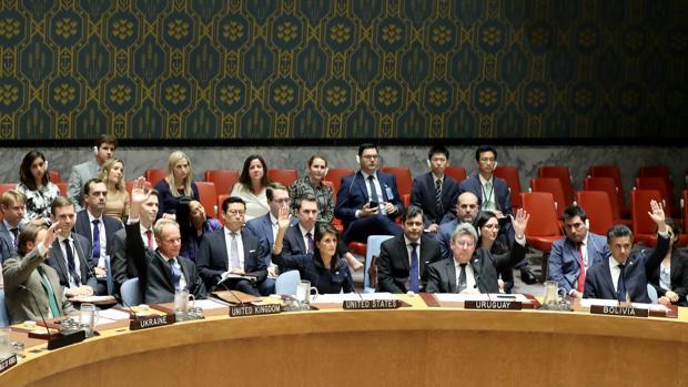 El Consejo de Seguridad de las Naciones Unidas, durante la votación de las últimas sanciones a Corea del Norte