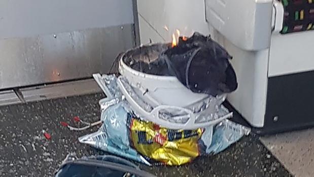 Imagen del artefacto utilizado en el ataque del metro de Londres