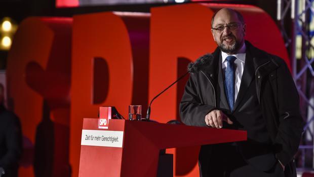 El candidato a canciller aleman del partido Socialdemócrata, Martin Schulz