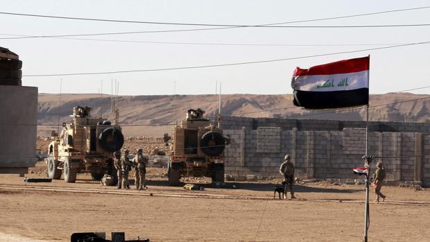 Soldados iraquíes durante una operación contra miembros de Daesh en Mosul