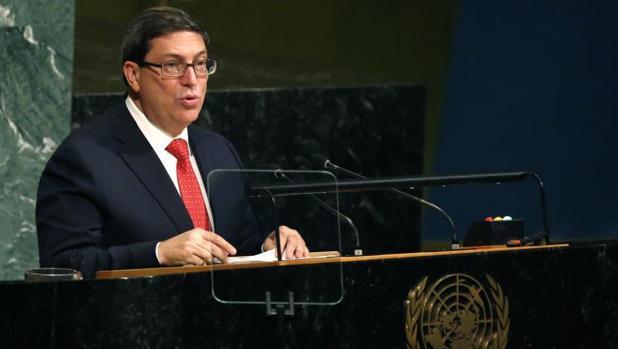 Bruno Rodríguez, este viernes ante la Asamblea General de la ONU, en Nueva York