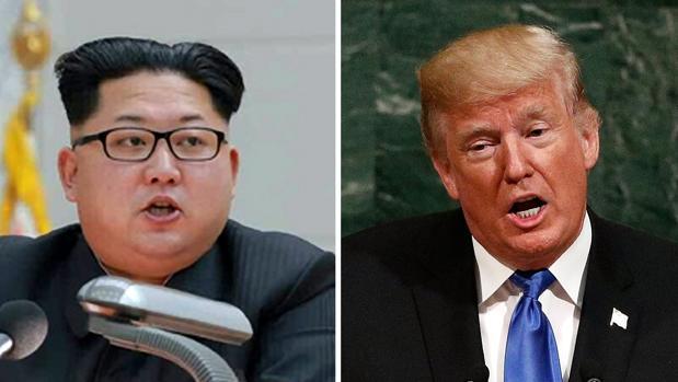 Kim Yong Un y Donald Trump