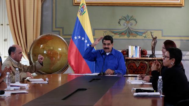 Nicolás Maduro, este viernes durante un encuentro con sus ministros en el Palacio de Miraflores