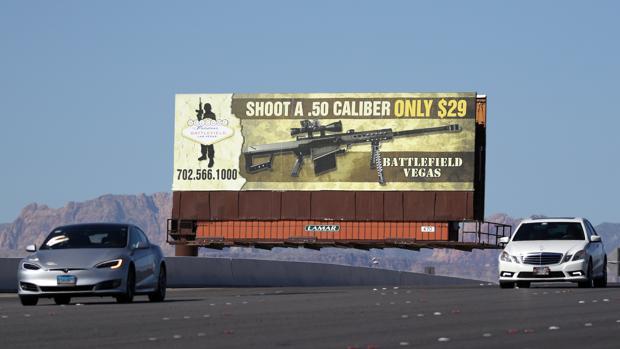 Anuncio de un campo de tiro cerca de Las Vegas, dos días después de la matanza