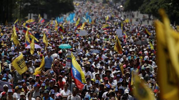 Protesta opositora contra Nicolás Maduro el pasado abril en Caracas