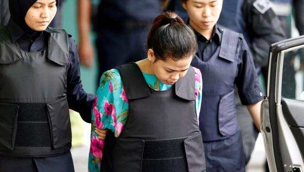 La indonesia Siti Aisyah, una de las acusadas de matar a Kim Jong-nam