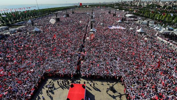 Concentración en Estambul al final de la «Marcha de la Justicia» el pasado mes de julio