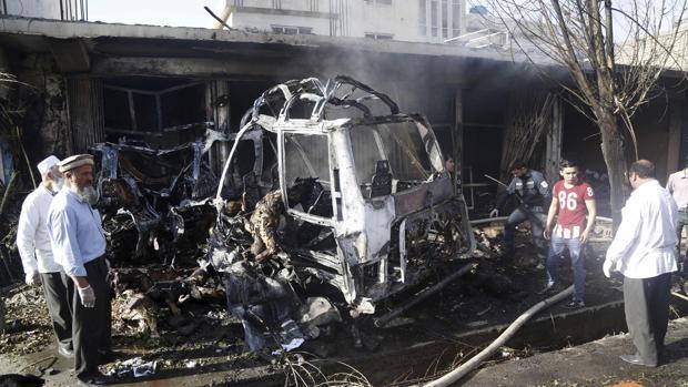 Foto de archivo de atentado