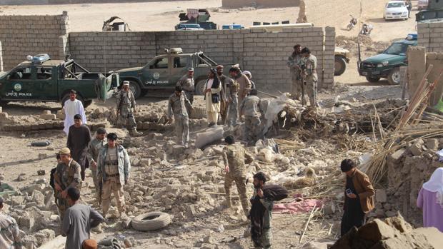 Imagen de un atentado sucedido ayer en la misma provincia contra una comisaría de policía