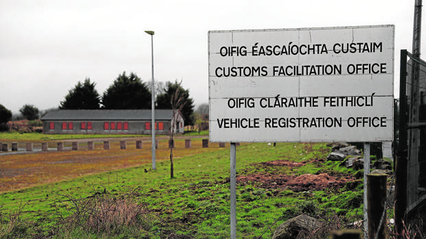 Puesto fronterizo abandonado entre Irlanda y el Ulster, en Killeen