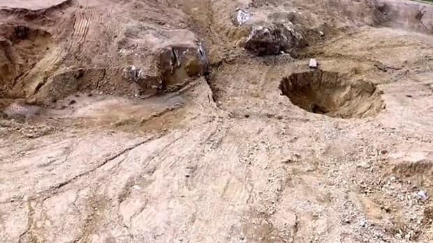 Fosas comunes halladas con anterioridad en las cercanías de Mosul