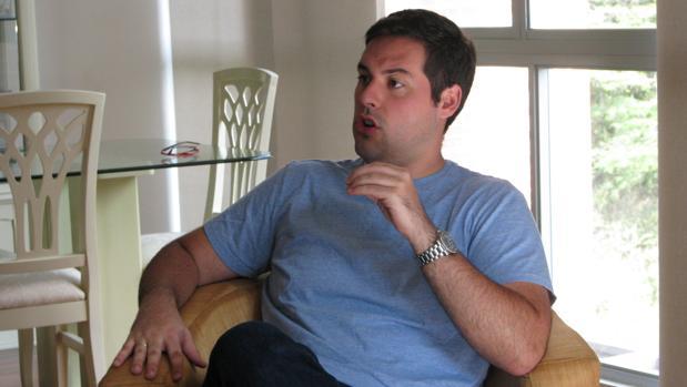 Yon Goicoechea, en un momento de la entrevista