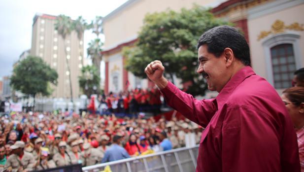 Nicolás Maduro, en un reciente acto con seguidores en Caracas