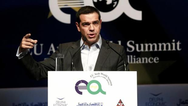Alexis Tsipras, durante una cumbre de la UE y el Mundo Arabe en Atentas, el pasado 9 de noviembre