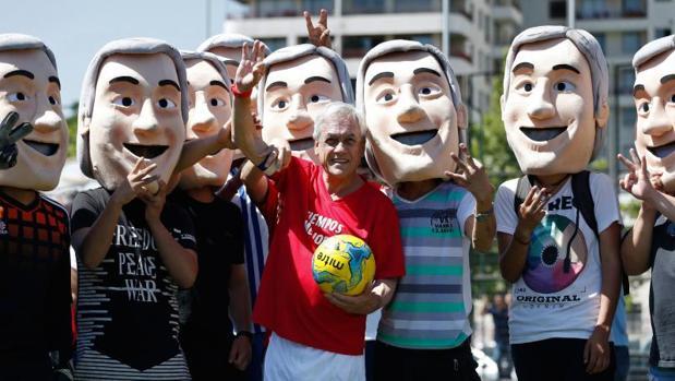 Sebastián Piñera ha jugado hoy un partidillo de fútbol