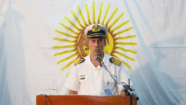 El capitán de navío y portavoz de la Armada Argentina, Enrique Balbi