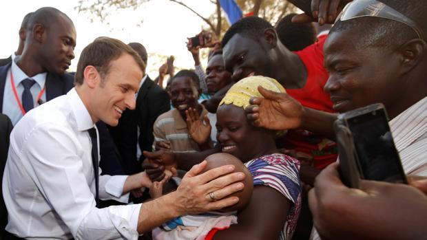 Emmanuel Macron, en Uagadugú