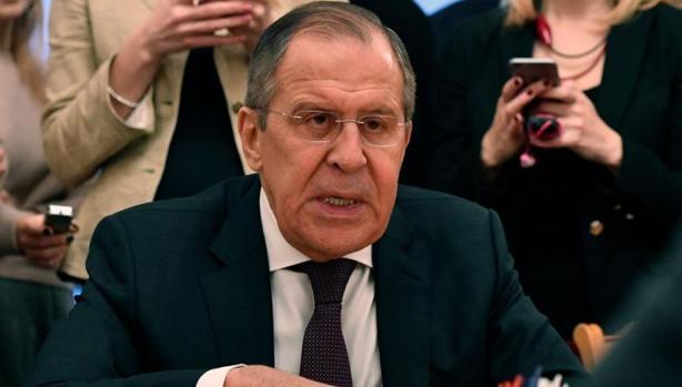 Serguei Lavrov, ministro de Exteriores ruso, durante una reunión con Staffan de Mistura, enviado especial de la ONU para Siria, durante una reunión en Moscú el pasado viernes