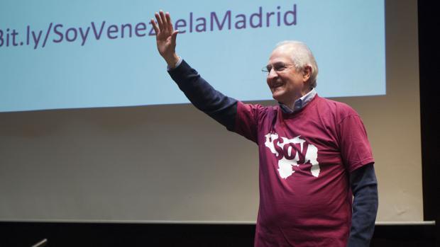 Antonio Ledezma, en la presentación en Madrid de la plataforma «Soy Venezuela»