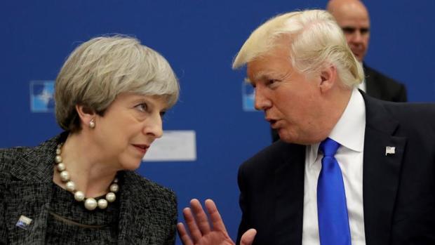 Theresa May y Donald Trump, en una imagen del pasado 25 de mayo