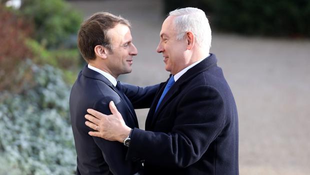 Emmanuel Macron y Benjamin Netanyahu, durante su encuentro en el Palacio del Elíseo, en París