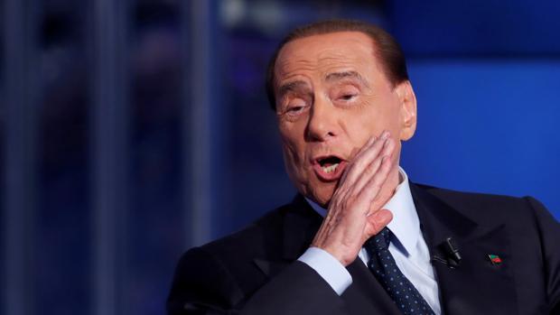 El ex primer ministro Silvio Berlusconi, durante un programa de televisión