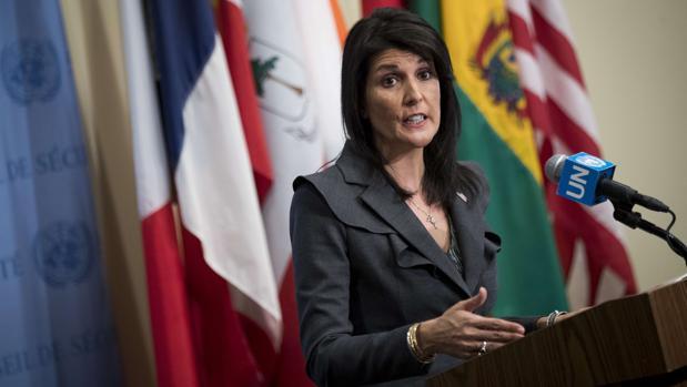 La embajadora norteamericana ante la ONU, Nikki Haley