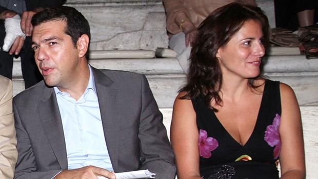 Alexis Tsipras y su pareja, Betty Barziana, en una imagen de archivo
