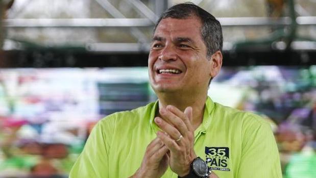 Rafael Correa, durante un mitin en Esmeraldas el pasado diciembre