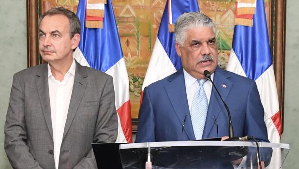 José Luis Rodríguez Zapatero, y el canciller dominicano Miguel Vargas Maldonado, el pasado noviembre