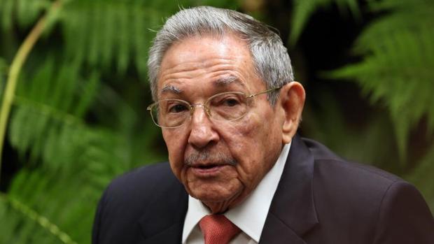 Raúl Castro, en el Palacio de la Revolución, el pasado martes, cuando recibió al presidente de Etiopía, Mulatu Teshome Wirtu, en La Habana
