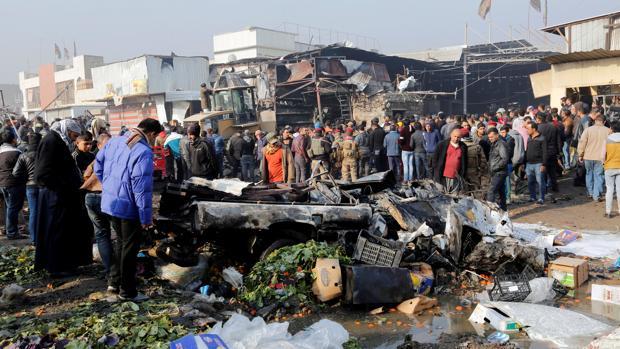 Imagen de archivo de un atentado del pasado lunes