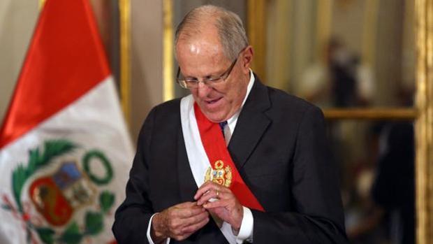 Pedro Pablo Kuczynsni, presidente de Perú, en un acto oficial