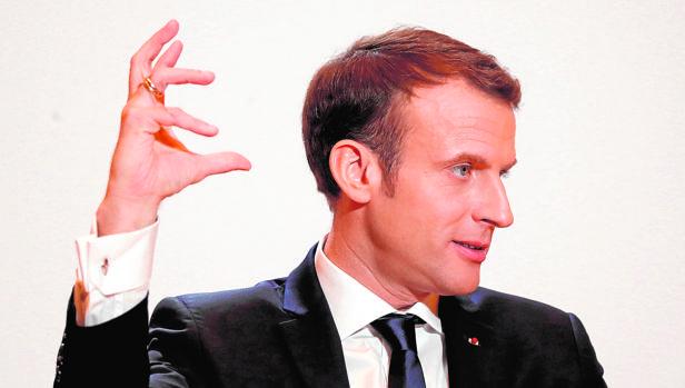 El presidente Emmanuel Macron, durante una rueda de prensa