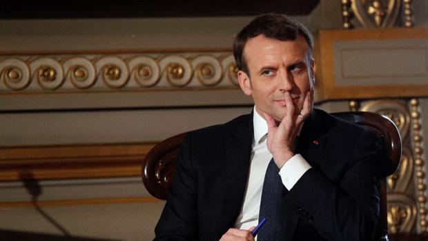 El presidente Emmanuel Macron durante un acto público