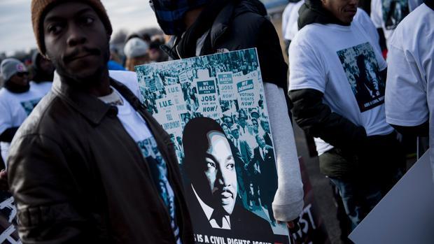 Desfile del Día de Martin Luther King, ayer en Washington