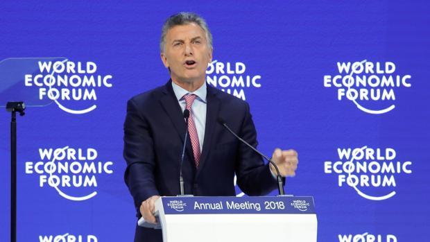 Macri, durante su intervención en el Foro Económico Mundial de Davos